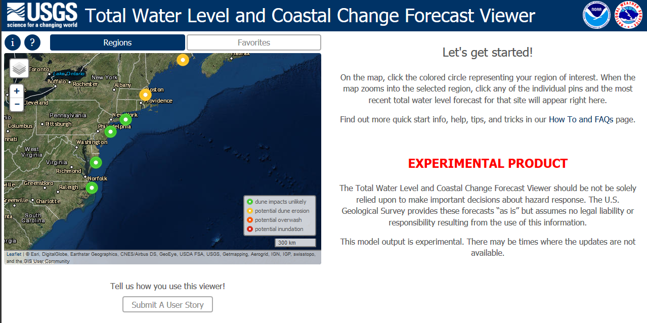 USGS Coastal Change Hazard Portal