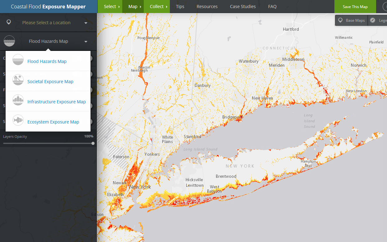 OCM's Coastal Flood Exposure Mapper