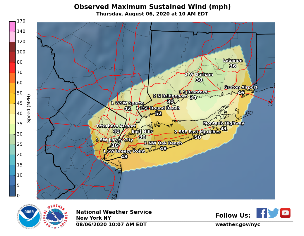 Image of Maximum Sustained Wind Speed