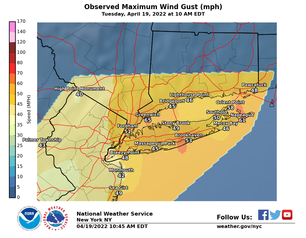 Image of Peak Wind Gust