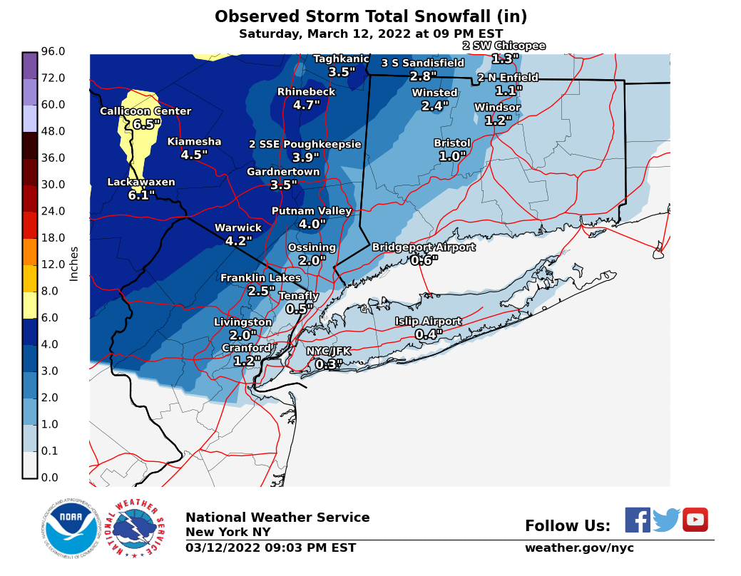 Image of Stotm Total Snowfall