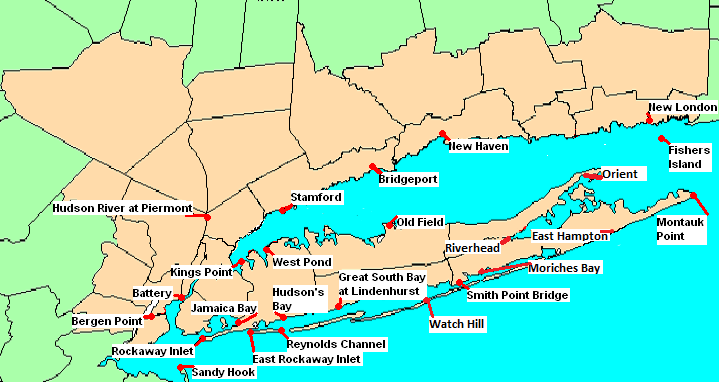 Map Of New York Islands.Nws New York Ny Coastal Flooding Page