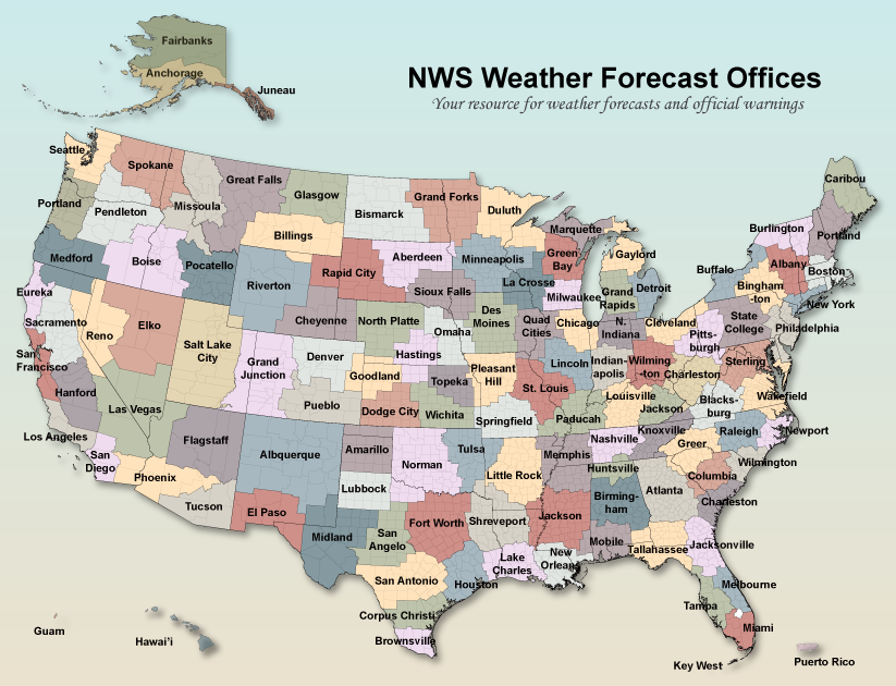 National Weather Service Offices - Map