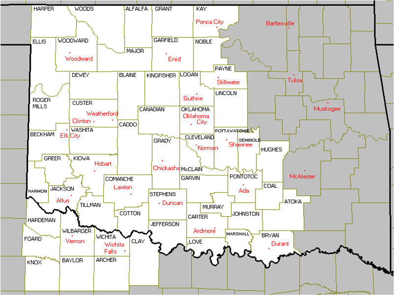 Ada Ok Zip Code Map.The Winter Storm Of January 31 February 1 2011