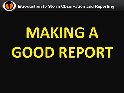 NWS Norman Storm Spotter Training Video - Reporting