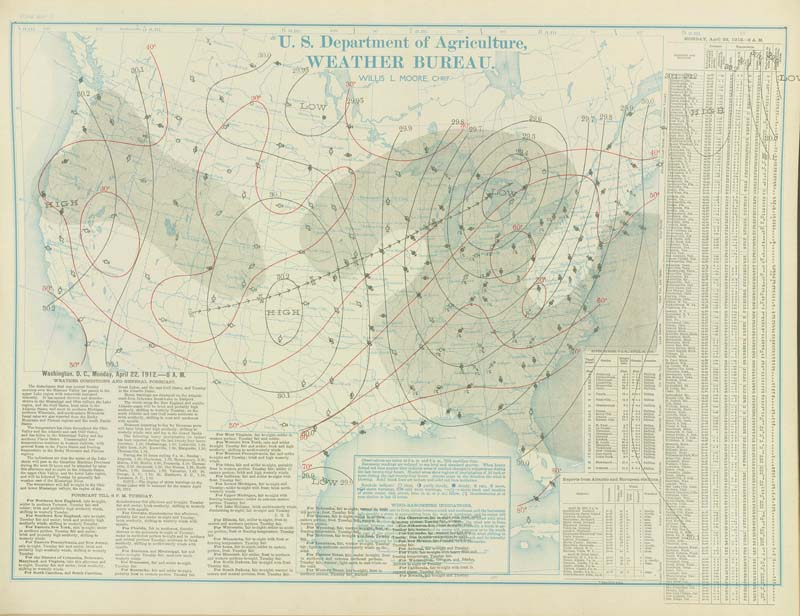 Weather Maps Of The United States For Mid To Late April For - Us surface weather map