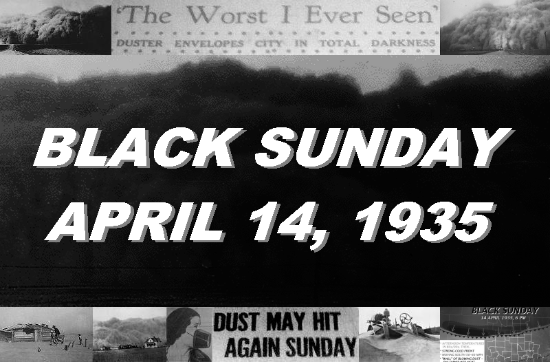 The Black Sunday Dust Storm of April 14 1935