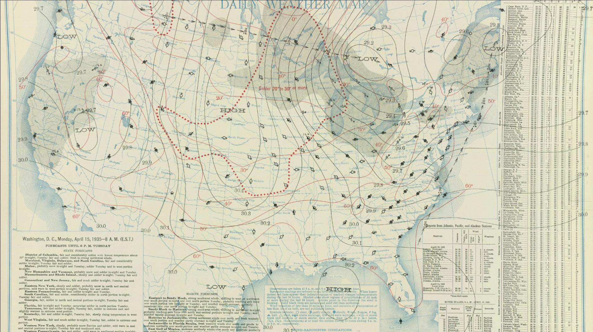 The Black Sunday Dust Storm Of April - West us weather map
