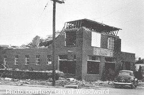 Photo damage produced in Woodward by the April 9, 1947 Tornado