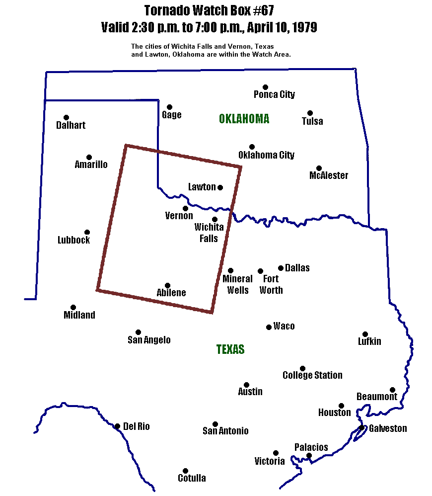The Red River Valley Tornadoes Of April 10 1979 1974 International 1700 Wiring Diagram Statements By Nws Forecast Offices Wsfos At Fort Worth And Oklahoma City Messages Were Fanned Out Noaa Weather Wire Radio