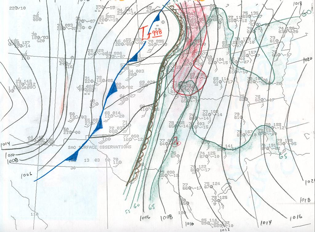Weather Synopsis For The March 13 1990 Great Plains Tornado Outbreak