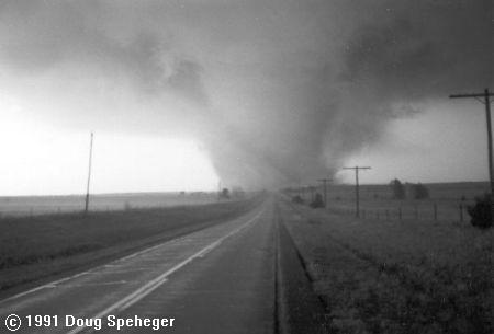 The April 26, 1991 Red Rock Tornado - Photo courtesy of Doug Speheger