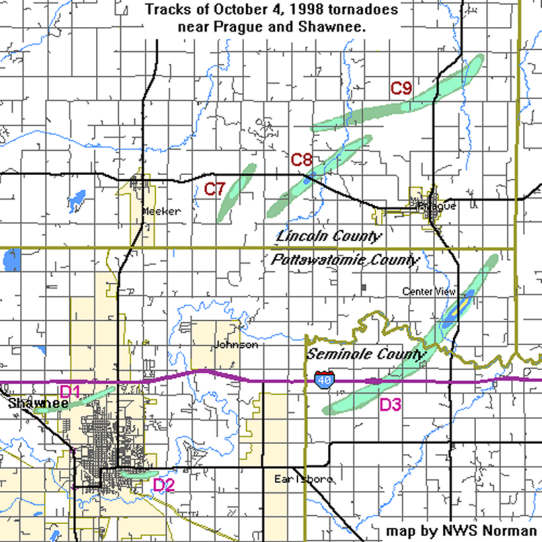 The 4 October 1998 Oklahoma Tornado Outbreak