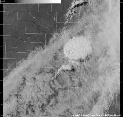 Satellite Image for 5:02 PM CDT, 5/08/2003
