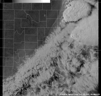 Satellite Image for 6:25 PM CDT, 5/08/2003