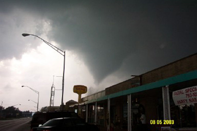 Photo of the May 8, 2003 Tornado in Moore, OK © Donna Hale-Hicks