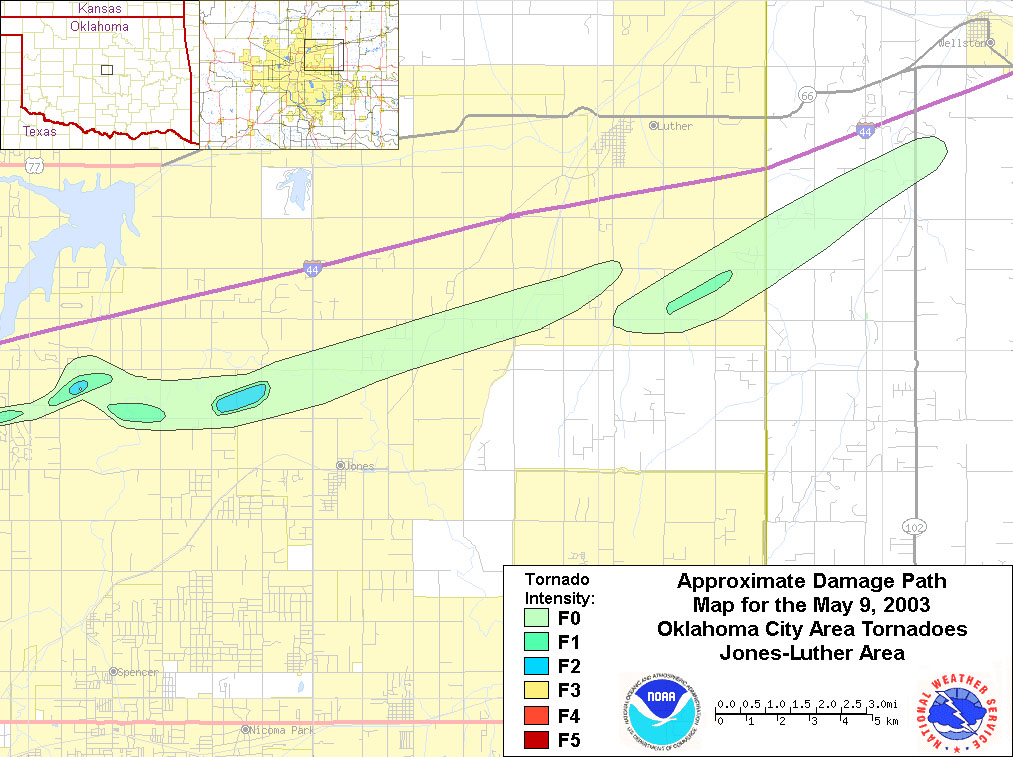 Maps And Graphics Related To The May 9 2003 Tornado Event In