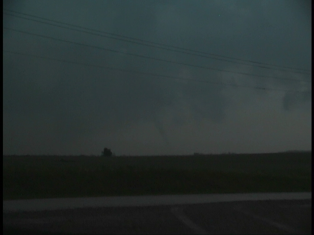 Video Screen Capture of Tornado #1 Near Eakley, OK at approximately 7:50 pm CDT on 5/09/2003 ©
