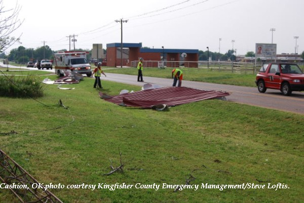 Damage in Cashion, OK