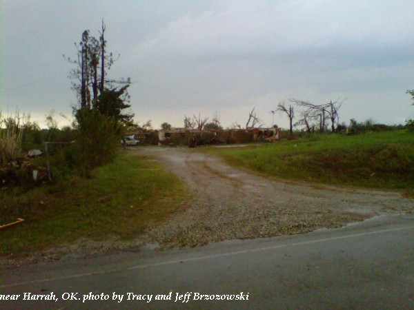 Home damage near Harrah, OK