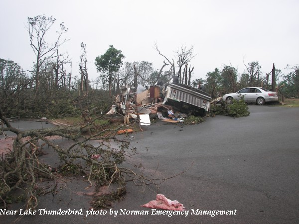 Damage near Lake Thunderbird