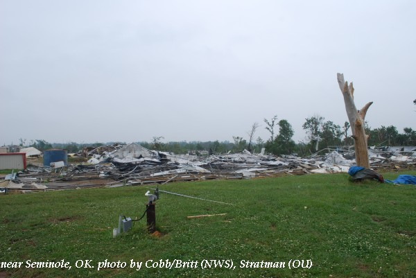 Damage near Seminole, OK