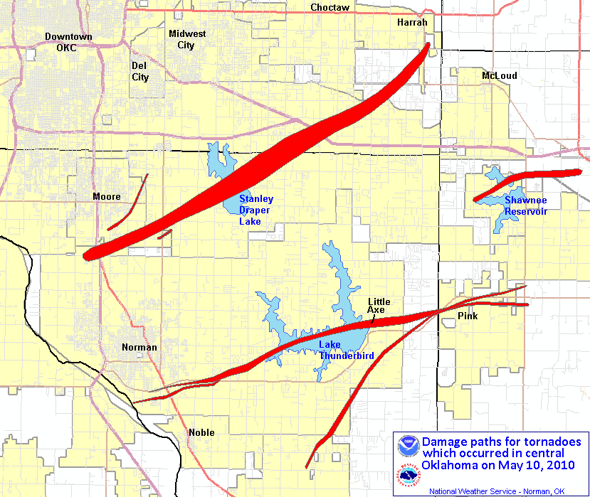 Maps And Graphics Associated With The May 10 2010 Tornado Outbreak