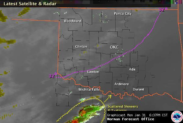 Regional Weather Conditions at 6:37 pm CST on January 31, 2011