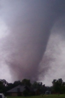 Tornado near Goldsby, OK - Photo courtesy of Derrick James
