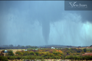 Tornado near the Wichita Mountain Natinal Wildlife Refuge on November 7, 2011