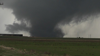 Tornado near Tipton, OK on November 7, 2011