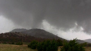 Tornado moves over Saddle Mountain on November 7, 2011