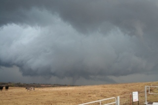 Tornado near Fort Cobb, OK on November 7, 2011