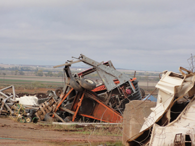 November 7, 2011 tornado damage photo