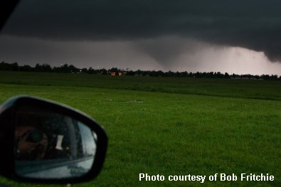 Photo of the April 13, 2012 Norman, Oklahoma Tornado taken from near Max Westheimer Airport by Bob Fritchie.