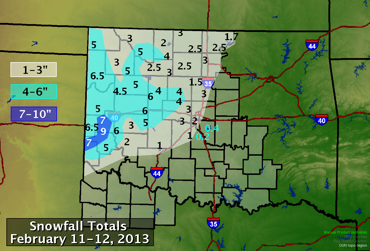 Snowfall Total Map