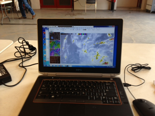 Mobile version of the NWS Advanced Weather Interactive Processing System II (AWIPS II). (Photo by Michael Scotten, NWS)