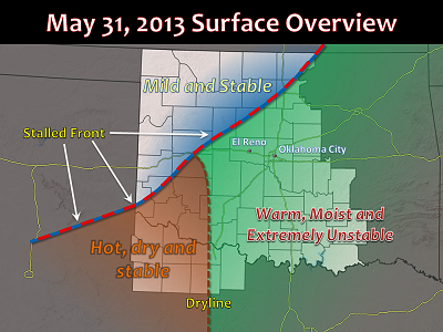 May 31, 2013 Surface Weather Conditions Overview Map #1