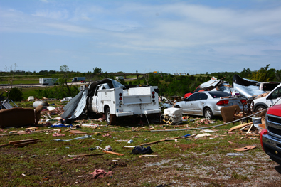 5/06/2015 Amber-Bridge Creek Tornado Damage Photo