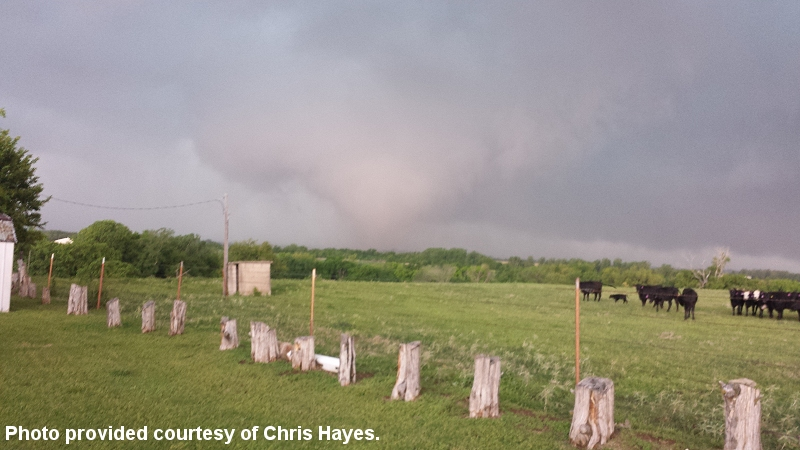 Photo of tornado near Newcastle, OK was taken by Chris Hayes at 5:36 pm CDT on May 6, 2015