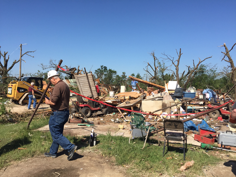 May 9, 2016 Katie, Oklahoma tornado damage photo