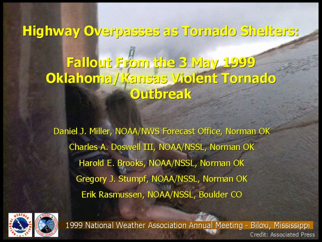Highway Passes as Tornado Shelters: Fallout From the 3 May 1999 Oklahoma/Kansas Violent Tornado Outbreak