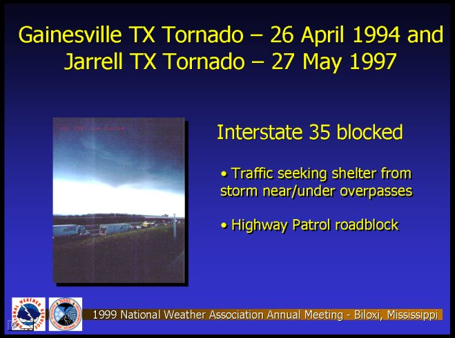 The Gainesville and Jarrel, TX Tornadoes