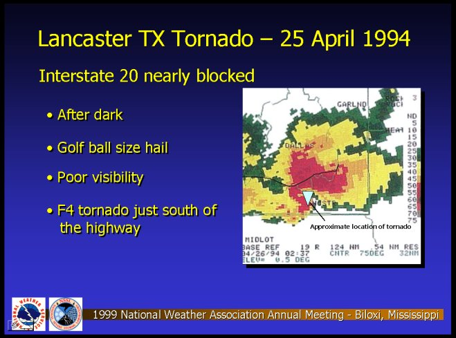 Lancaster, Texas Tornado of 25 April 1994