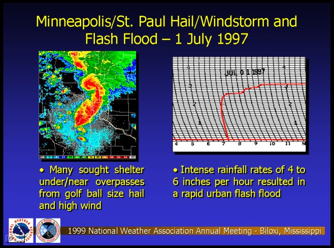 Minneapolis/St. Paul, Minnesota Hailstorm and Flash Flood of 1 July 1997