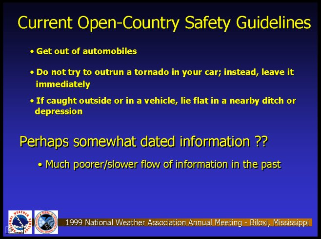 Current Open-Country Safety Guidelines