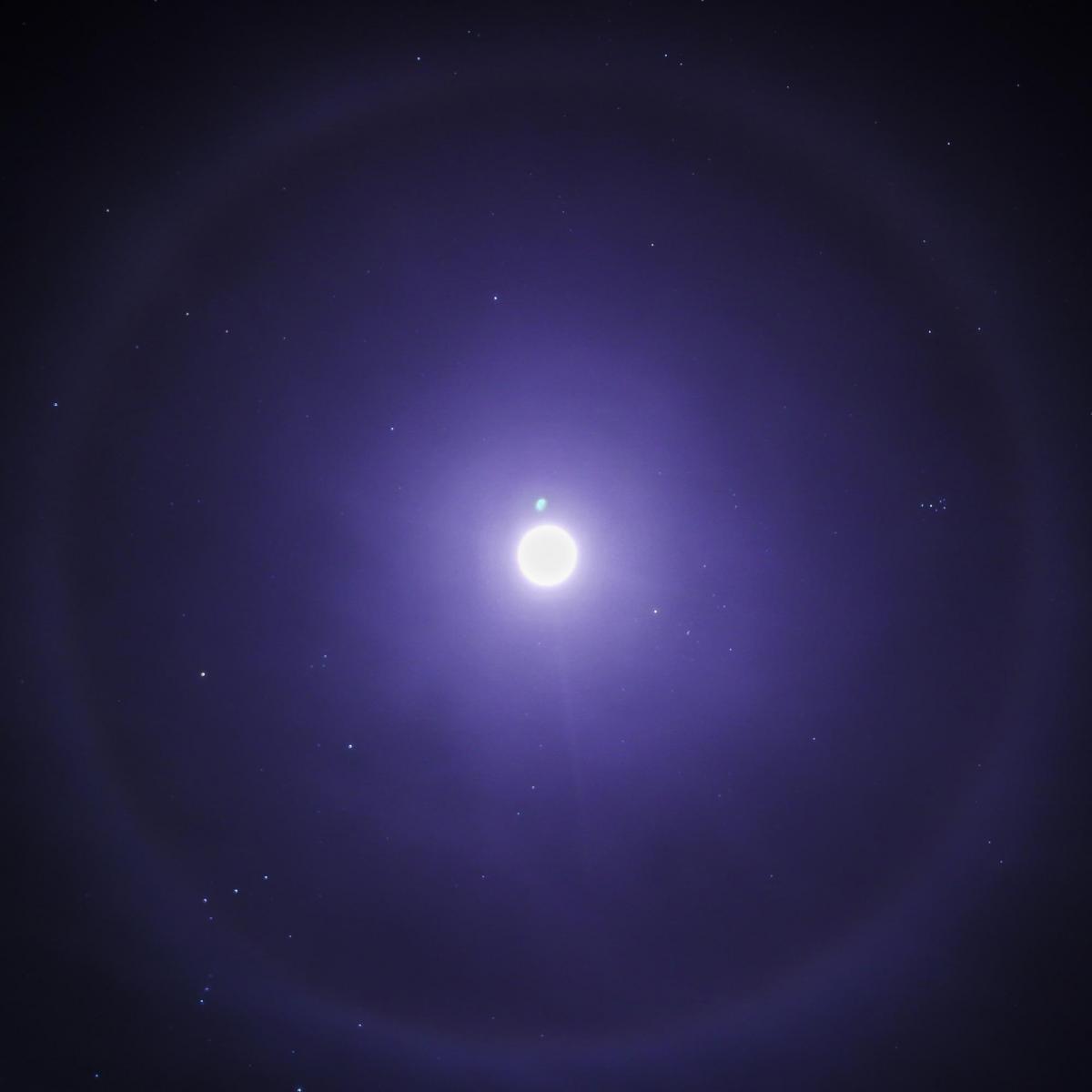 A lunar halo over Montana.