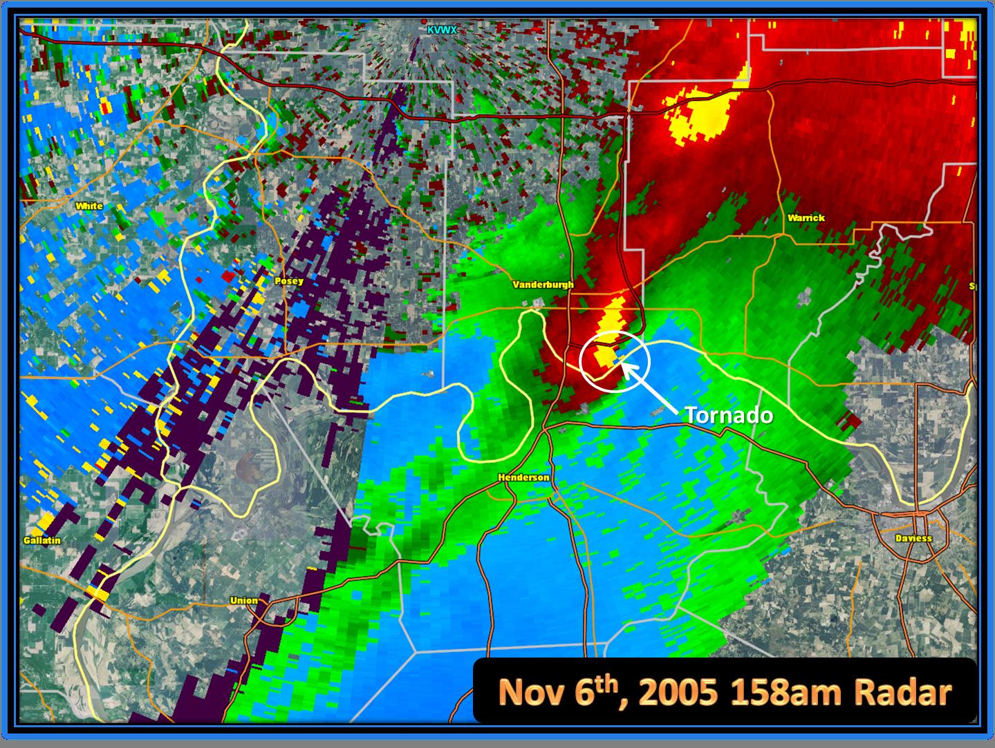 Nov Th Evansville Area Tornado - Average us tornado map national weather service