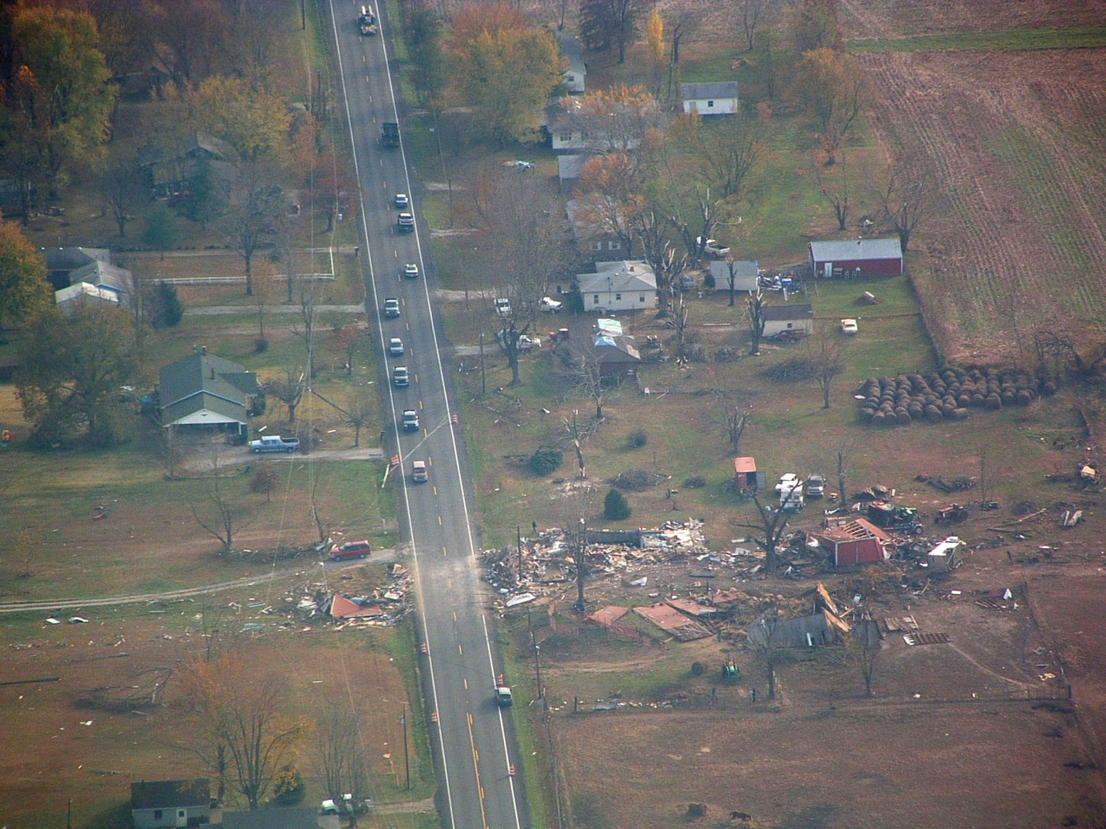 Nov 6th 2005 Evansville Area Tornado Ariel Wiring Diagram Here Are Some Aerial Pictures Of The Track