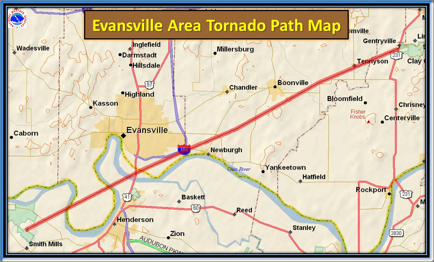 Evansville Illinois Map.Nov 6th 2005 Evansville Area Tornado